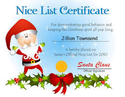nice list certificate template resume builder nice list certificate template award certificate template 2020siteorg the trials of big j and
