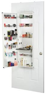 plastic makeup organizer put bathroom: over the door hanging cosmetic organizer with mirror a great space saver and keeps it