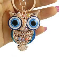 Прекрасный <b>Эмаль Сова</b> цепочки <b>кольца</b> для ключей держатель ...
