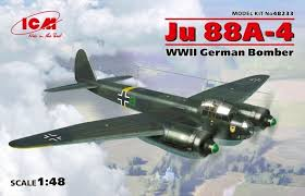 Ju 88A-4 WWII German Bomber 1/48 Scale Plastic Model Kit by ICM ...