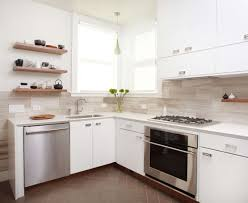 kitchen floor tiles small space: kitchenwonderful kitchen small space design inspiration with l shape textured wood kithen cabinet and