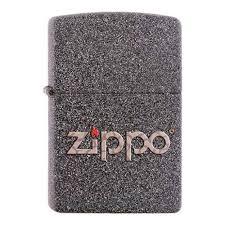 <b>Зажигалка ZIPPO</b>, латунь с покрытием Iron Stone, серая с ...