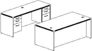 create with two desks two credenzas or a desk and credenza arrange office furniture