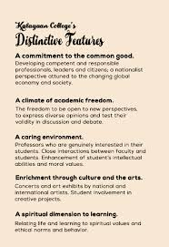 our core values kalayaan college kc distinctive features