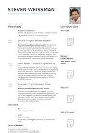 Postdoctoral Fellow Resume Samples   VisualCV Resume Samples Database VisualCV Postdoctoral Fellow Resume Samples