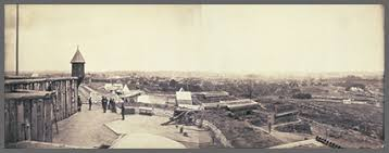 a brief history of panoramic photography   panoramic photographs  nashville tenn from fort negley looking northeast  george barnard albumen silver print  x  in ph   barnard g no  e size pampp