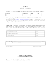 Free Daycare Termination Letter for Non Payment