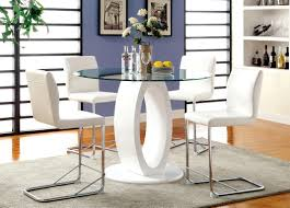 room fascinating counter height table: fascinating counter height glass table round dining sets prodwidwidhei full size