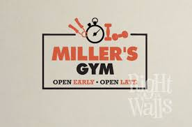 <b>Open</b> Early Fitness <b>Wall Decal</b>, Gym <b>Vinyl Wall Art</b>