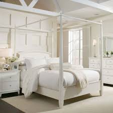 Bedroom Inspiration <b>Elegant</b> Canopy Bed Curtains <b>White Wooden</b> ...