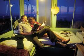 balancing the pulls of domesticity and wilderness the other in a moment of contentment edward abbey reads his fourth wife renee downing at a forest service fire lookout on aztec peak arizona in the sierra