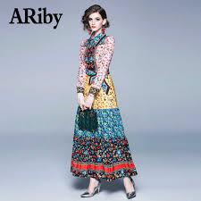 <b>ARiby</b> Fashion temperament <b>dress</b> 2019 autumn romantic clover ...