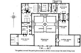 bedroom u shaped floor plans  courtyard   Carnaby Creek     bedroom u shaped floor plans  courtyard   Carnaby Creek Contemporary Home Plan D    HousePlans and More   followpics co   Floor Plans