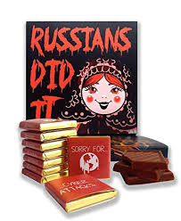 DA <b>CHOCOLATE</b> Candy Souvenir <b>Funny</b> Food Gift <b>RUSSIANS</b> DID ...