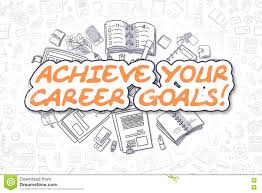 achieve your career goals business concept stock illustration achieve your career goals business concept