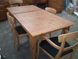 Pine Dining Room Chairs Knotty Pine Dining Room Set At Alemce Home Interior Design