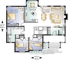 House plan W detail from DrummondHousePlans com    st level Affordable rustic bungalow of bedrooms       ceiling  rustic  amp  craftsman