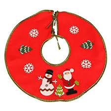 Buy Outgeek <b>Christmas</b> Tree Skirt <b>Cartoon</b> Santa <b>Snowman Pattern</b> ...