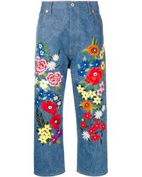 <b>Women's Floral</b>-<b>Embroidered</b> Jeans