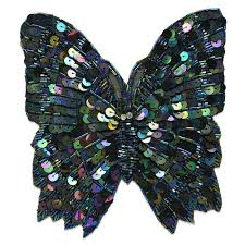 <b>Butterfly</b> and Bug Beaded Sequin Appliques/Patches