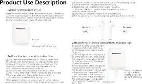 <b>I9</b>-<b>TWS</b> Bluetooth Earphone User Manual <b>i9</b> 5.0 Shenzhen Langong ...