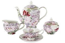 Чайный <b>сервиз</b> из костяного фарфора на 6 персон «Райский сад ...