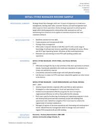retail store manager resume samples tips templates retail store manager template