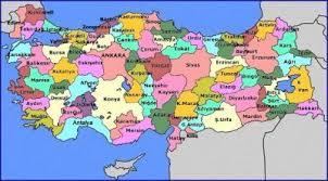 Image result for türkiye iller haritası