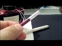 Как заправить чернилами картридж для перьевой ручки - YouTube