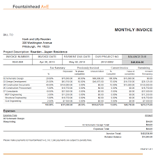architectural invoice template invoice template