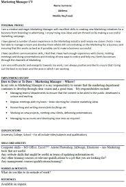 marketing manager cv example   icover org uk