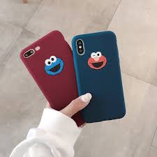 Cute <b>Cartoon Sesame Street</b> Cookie Elmo <b>Phone</b> Case For iPhone ...