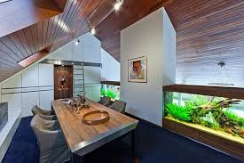 view in gallery home office with stylish huge aquarium aquarium office