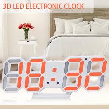 Household 3D Table Light Wall <b>Digital LED Alarm Clock</b> Stereo ...