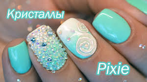 Хрустальная крошка: как крепить на гель <b>лак</b> (<b>Crystal</b> Pixie ...