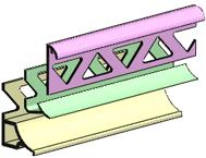 Уголок отделочный для кафельной <b>плитки</b> | <b>Профиль ПВХ</b>. ППЗ