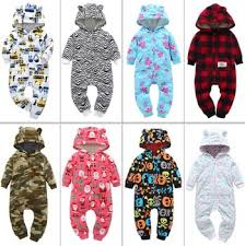 New spring and autumn young children thick fleece jumpsuit ...