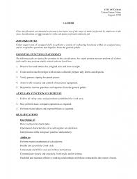 job descriptions resume for seeking food server resume cna resume