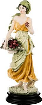 <b>Статуэтка Lefard Девушка</b> с корзинкой, 431-035, золотистый ...