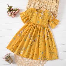 Kid's Dress <b>Girls</b> Dress <b>Chiffon</b> Skirt Summer New Floral Dress ...