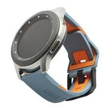UAG <b>Universal</b> Civilian Silicone <b>Watch Strap</b> - Slate/Orange