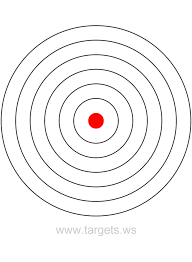 targets   print your own bullseye shooting targetsgif graphic file link