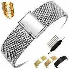 <b>ZLIMSN Mesh</b> Stainless Steel Milanese <b>Watch Band</b> Link Wrist <b>Strap</b> ...