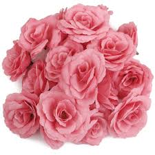 <b>Hot Sale 20pcs</b> Artificial <b>Rose Flower</b> Head Corolla DIY Wedding ...