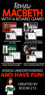 macbeth act one quotations an interactive digital activity macbeth board game