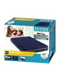Shop <b>Intex</b> Classic Downy Airbed PVC Blue/Black 152x203x25cm ...