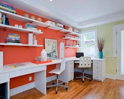 even if this official hue is very bright or bold it can still be used tastefully by being the accent color best office wall colors