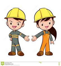 vector cute smart worker boy and girl stock vector image  vector cute smart worker boy and girl