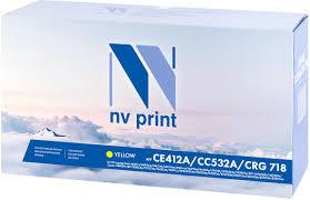 Тонер-<b>картридж NV Print CE412A/CC532A/718</b>, желтый, для ...