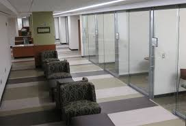 floor to ceiling glass walls with sliding frameless glass doors architects sliding door office